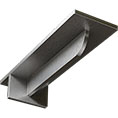 "3""W x 10""D x 2""H Heaton Hidden Support Bracket with 6"" Support Depth, Stainless Steel"